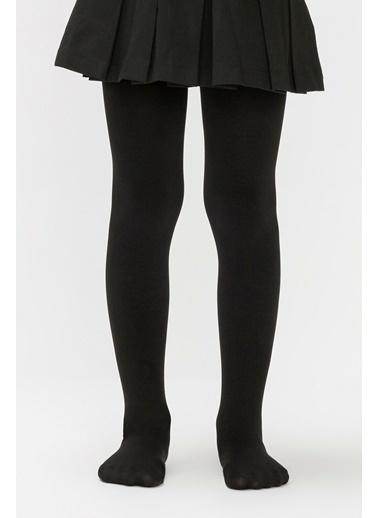 Penti Kız Çocuk Siyah Pretty Termal  Külotlu Çorap PCLP7TKG18SK Siyah